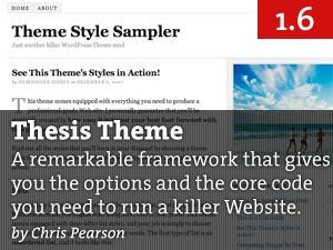 WordPress template Thesis