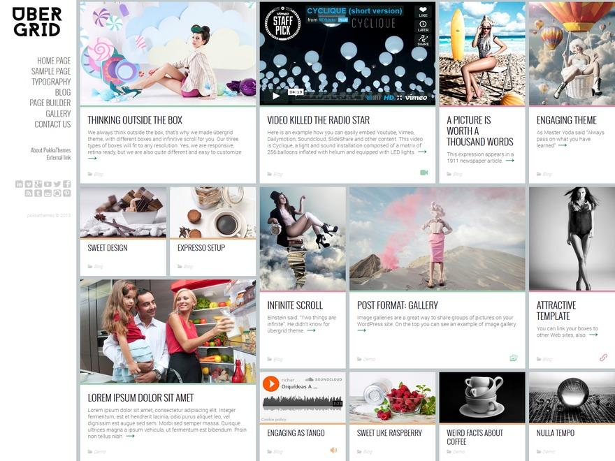 WordPress template UberGrid