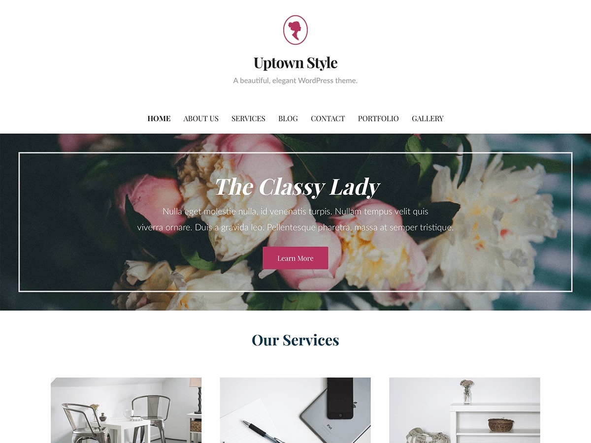 WordPress template Uptown Style