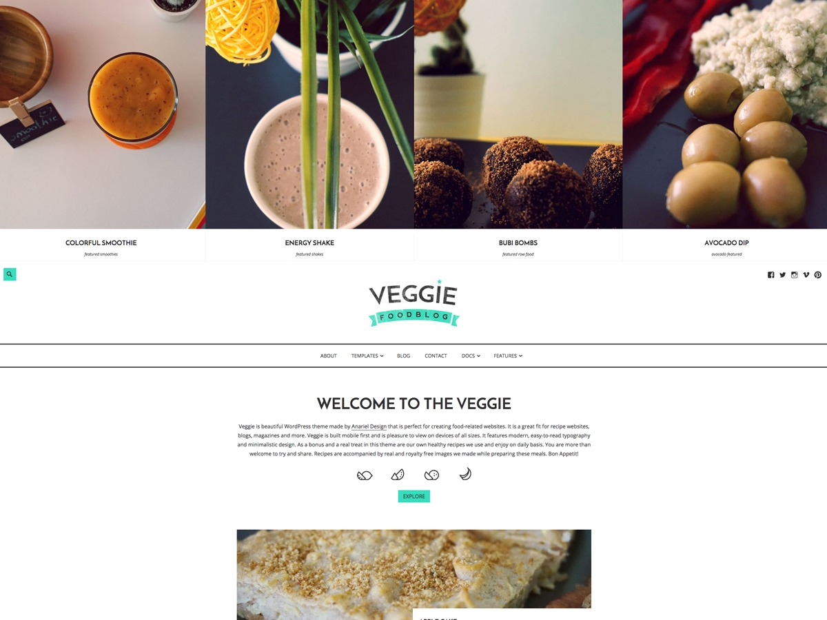 WordPress template Veggie