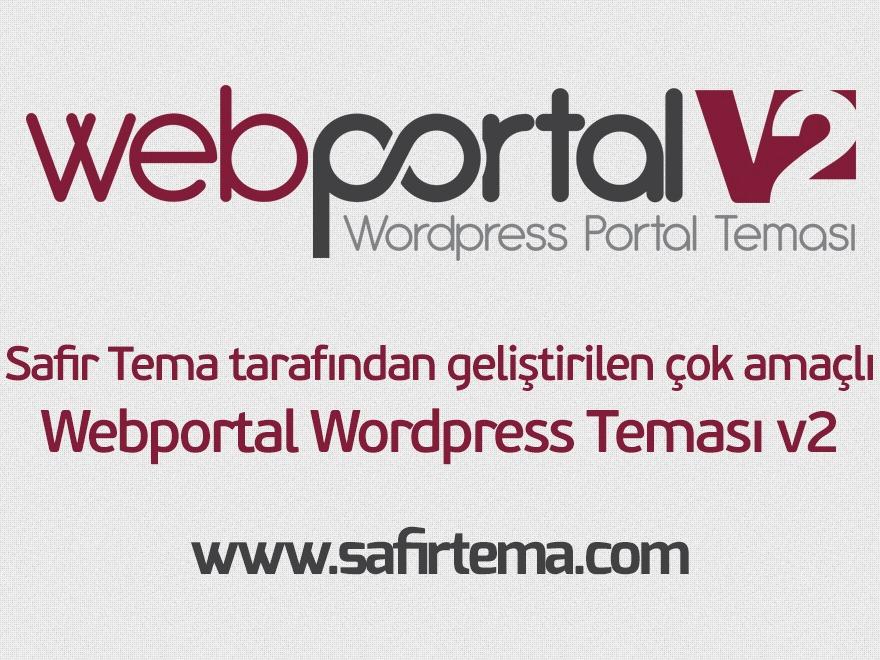 WordPress template Webportal Wordpress Teması v2