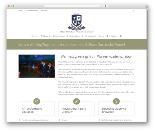 WordPress theme 3clicks Theme - warrenacademy.net