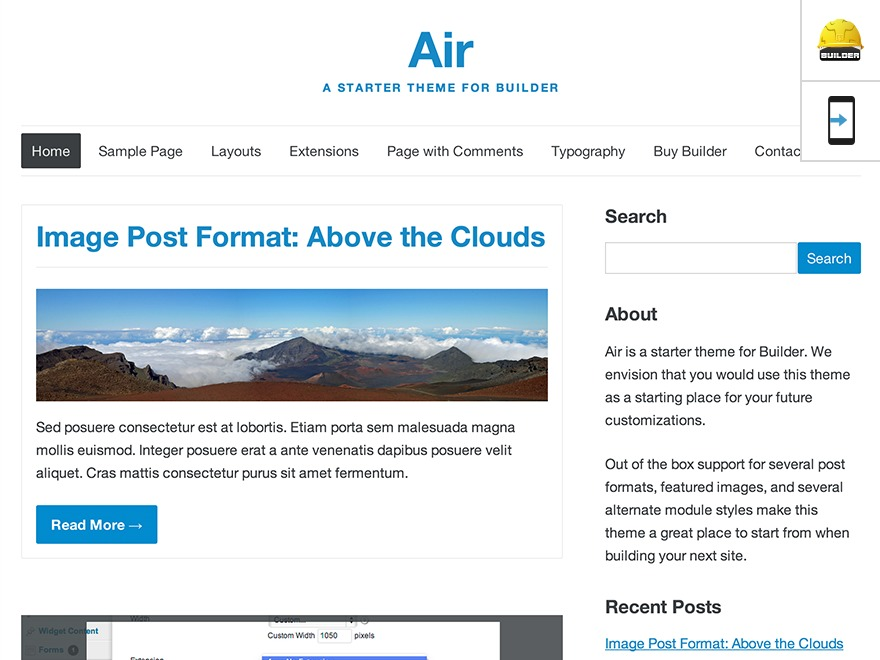 WordPress theme Air