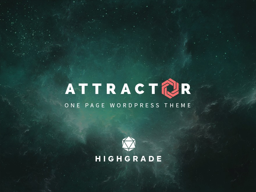 WordPress theme Attractor Theme