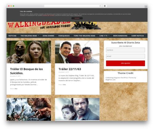 WordPress theme Combomag - walkingdead.es