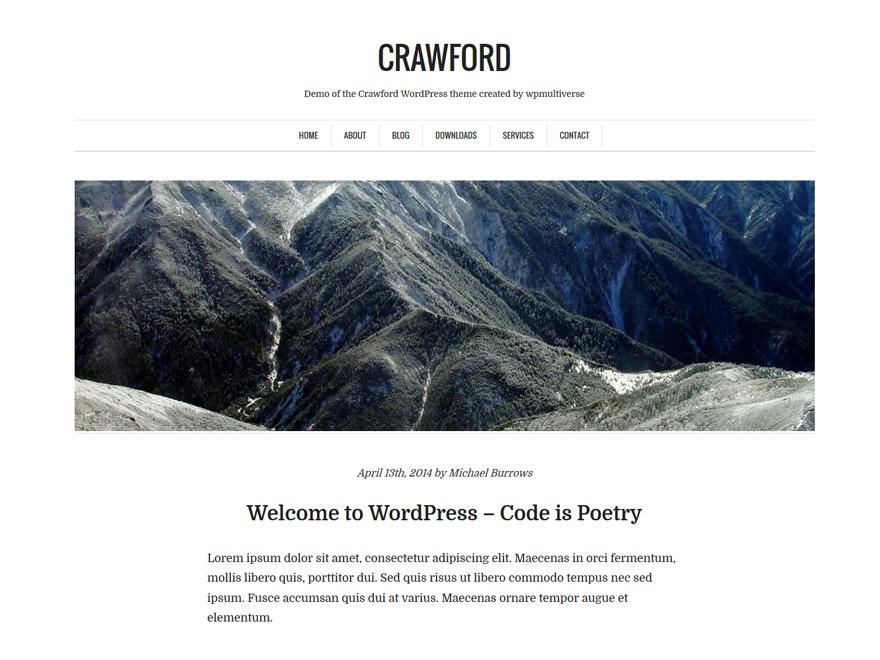 WordPress theme Crawford