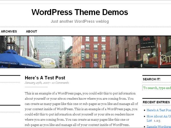 WordPress theme Cutline 3-Column Split