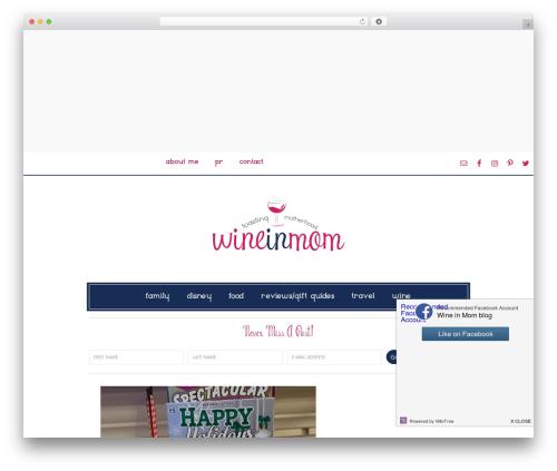WordPress theme Divine Theme - wineinmom.com