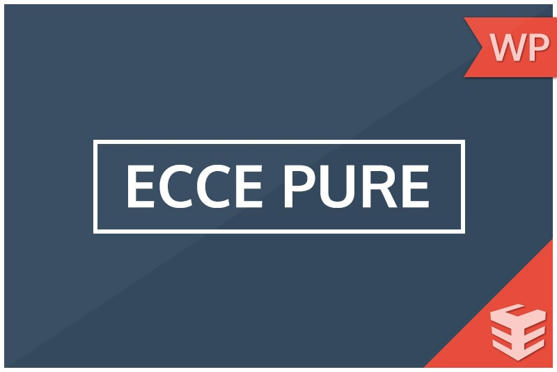WordPress theme EccePure