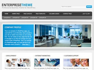 WordPress theme Enterprise Child Theme