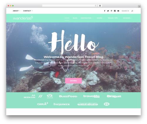 WordPress theme Extra - wanderlass.com