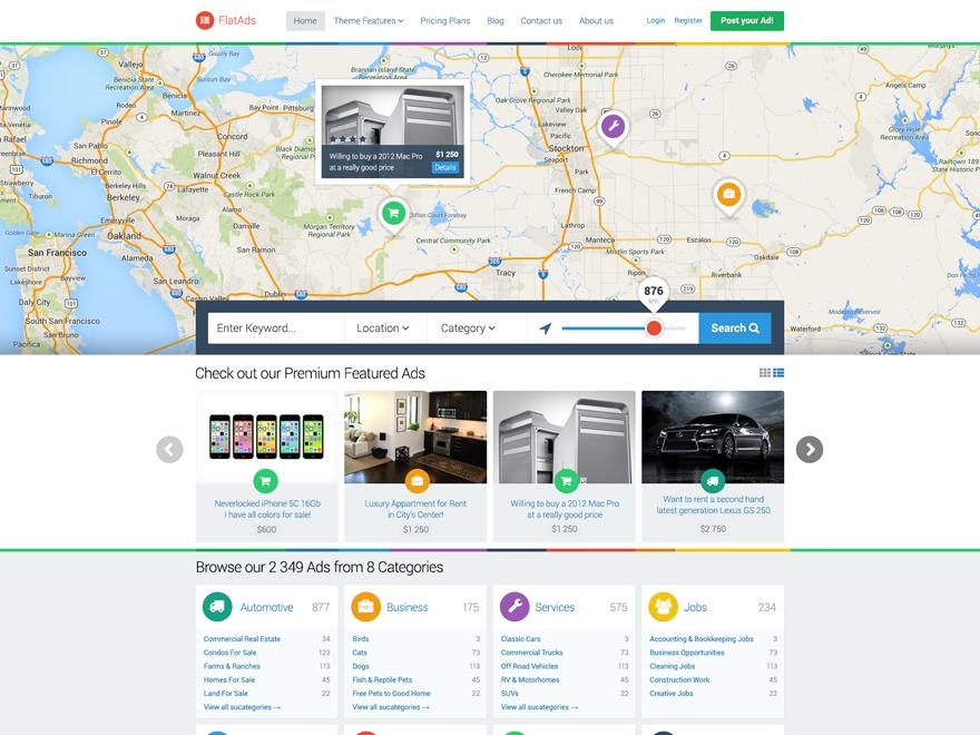 WordPress theme FlatAds - WordPress Classified Ads Theme