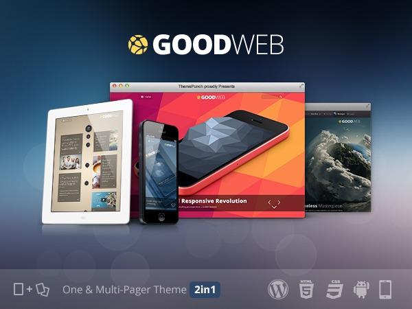WordPress theme Goodweb - One + Multipage WordPress Theme