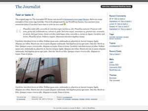 WordPress theme Journalist