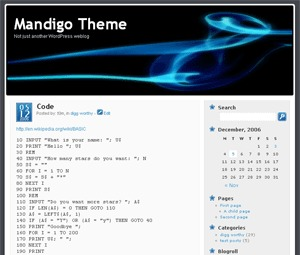 WordPress theme Mandigo