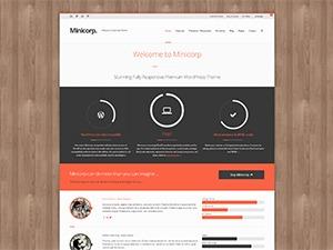 WordPress theme Minicorp Child