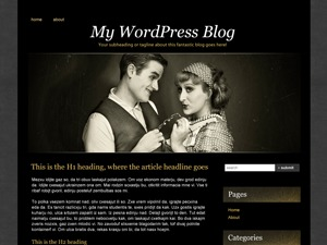 WordPress theme Silent Film