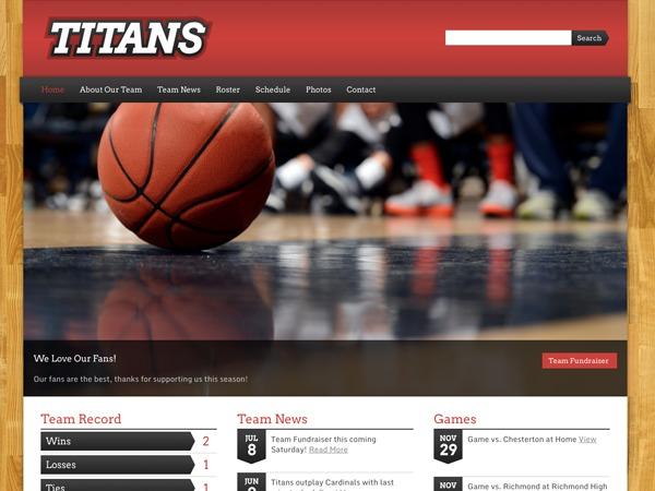 WordPress theme Sports Team Theme
