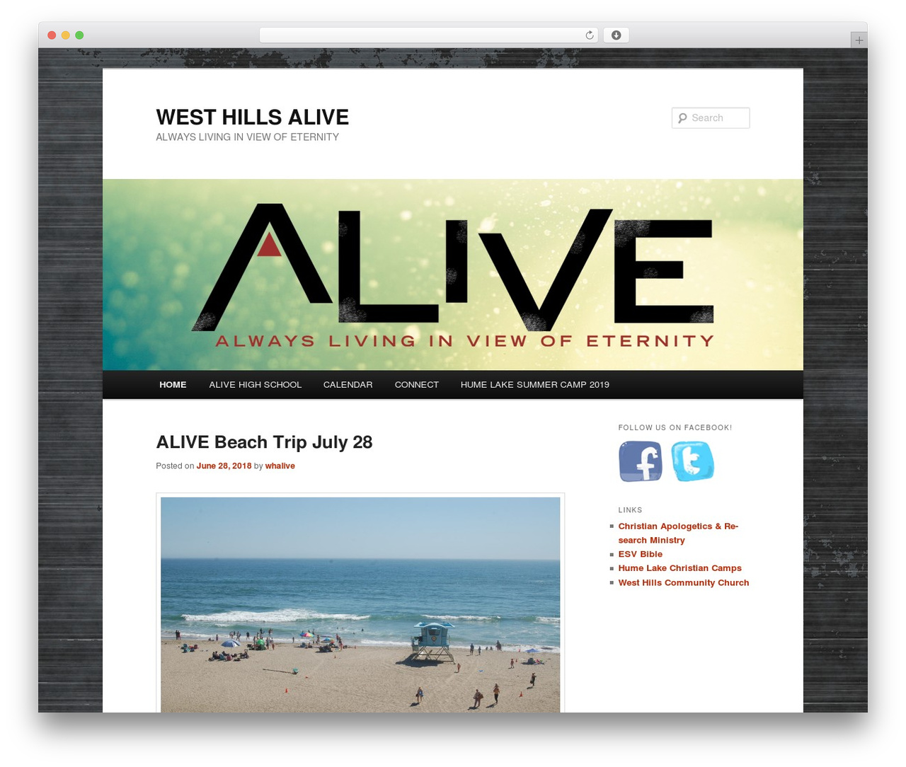 WordPress theme Twenty Eleven - westhillsalive.org