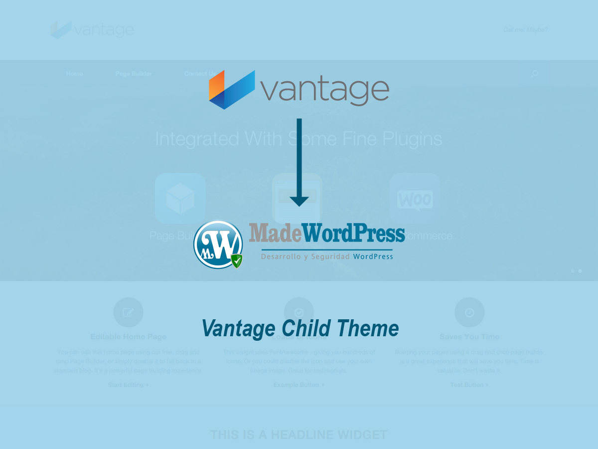WordPress theme Vantage Child
