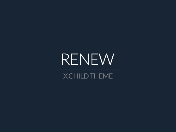WordPress theme X - Child Theme: Renew