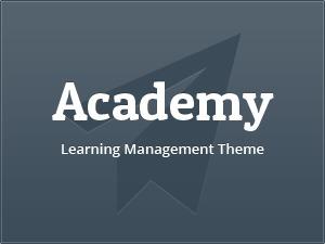 WordPress website template Academy