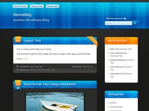 WordPress website template Bloxy Two