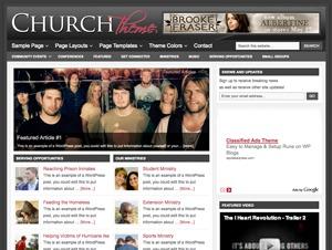 WordPress website template Church Child Theme