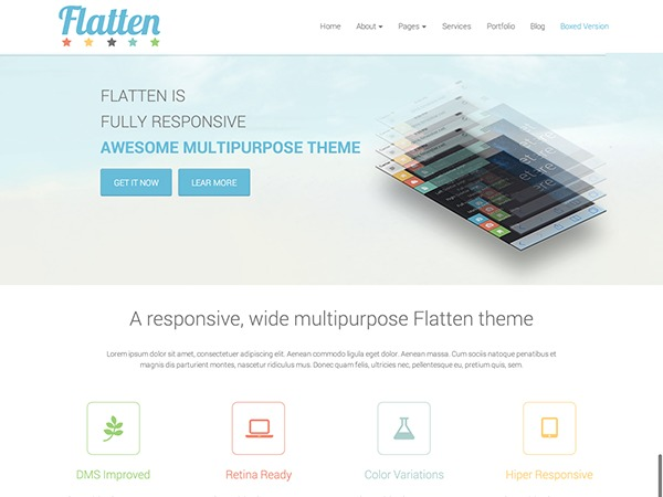 WordPress website template Flatten