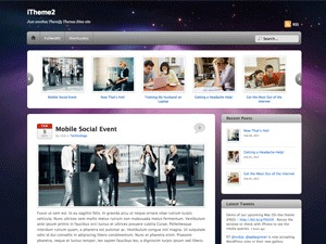 WordPress website template iTheme2