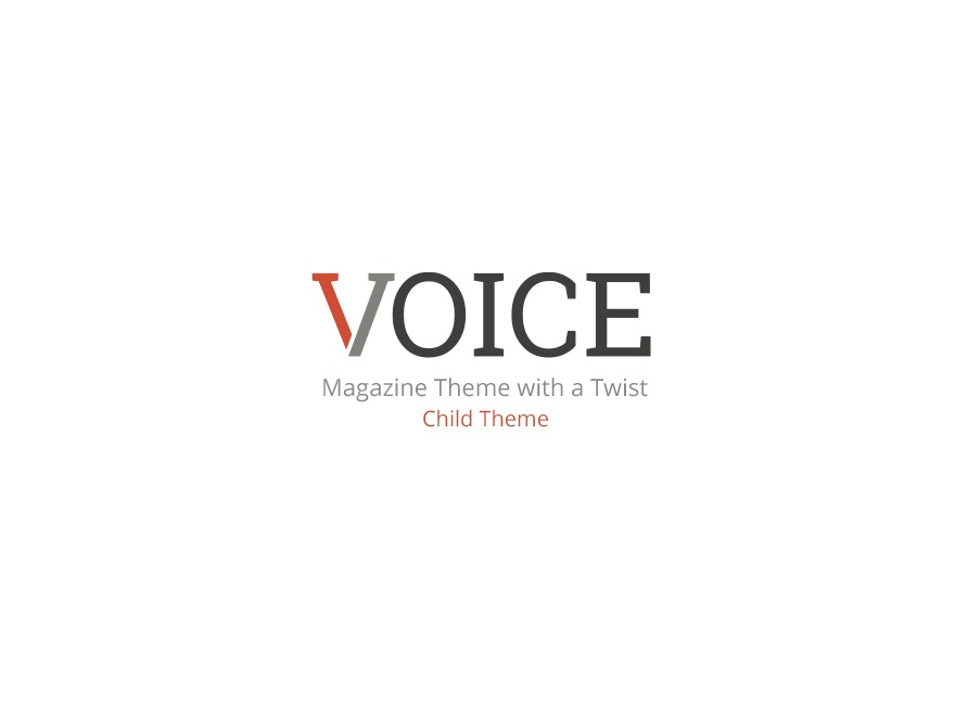 WordPress website template Voice Child