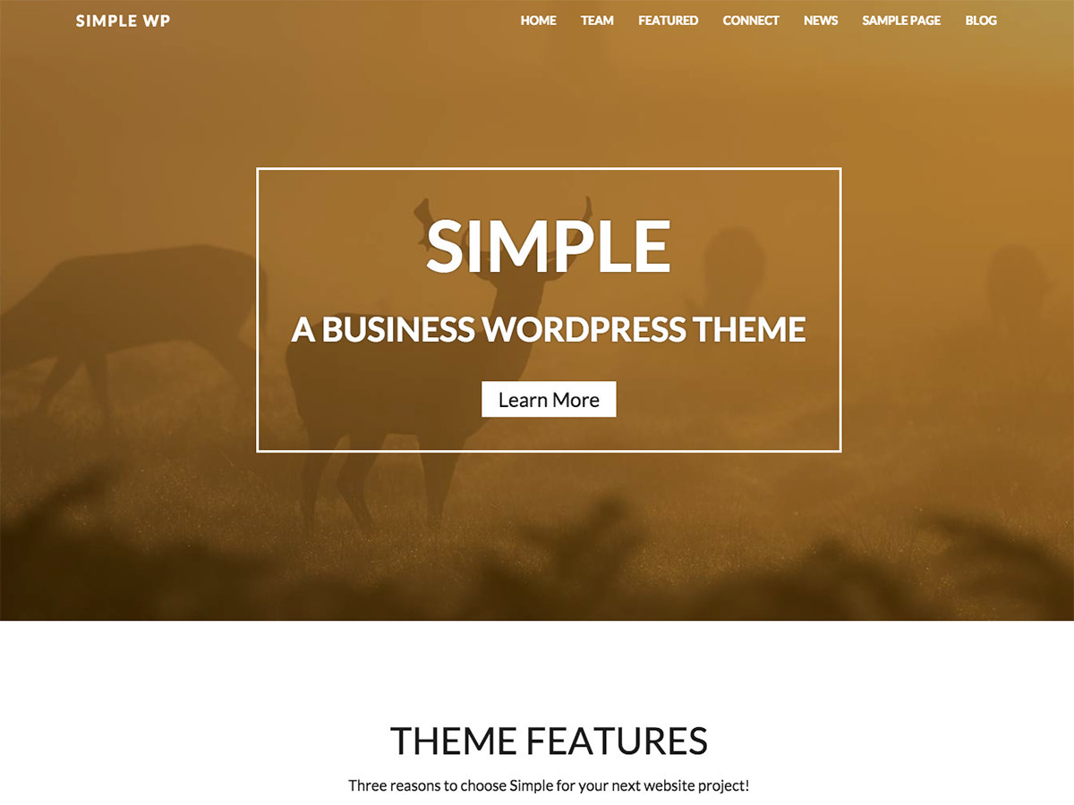 WP Simple theme WordPress free