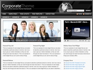 WP template Corporate Child Theme