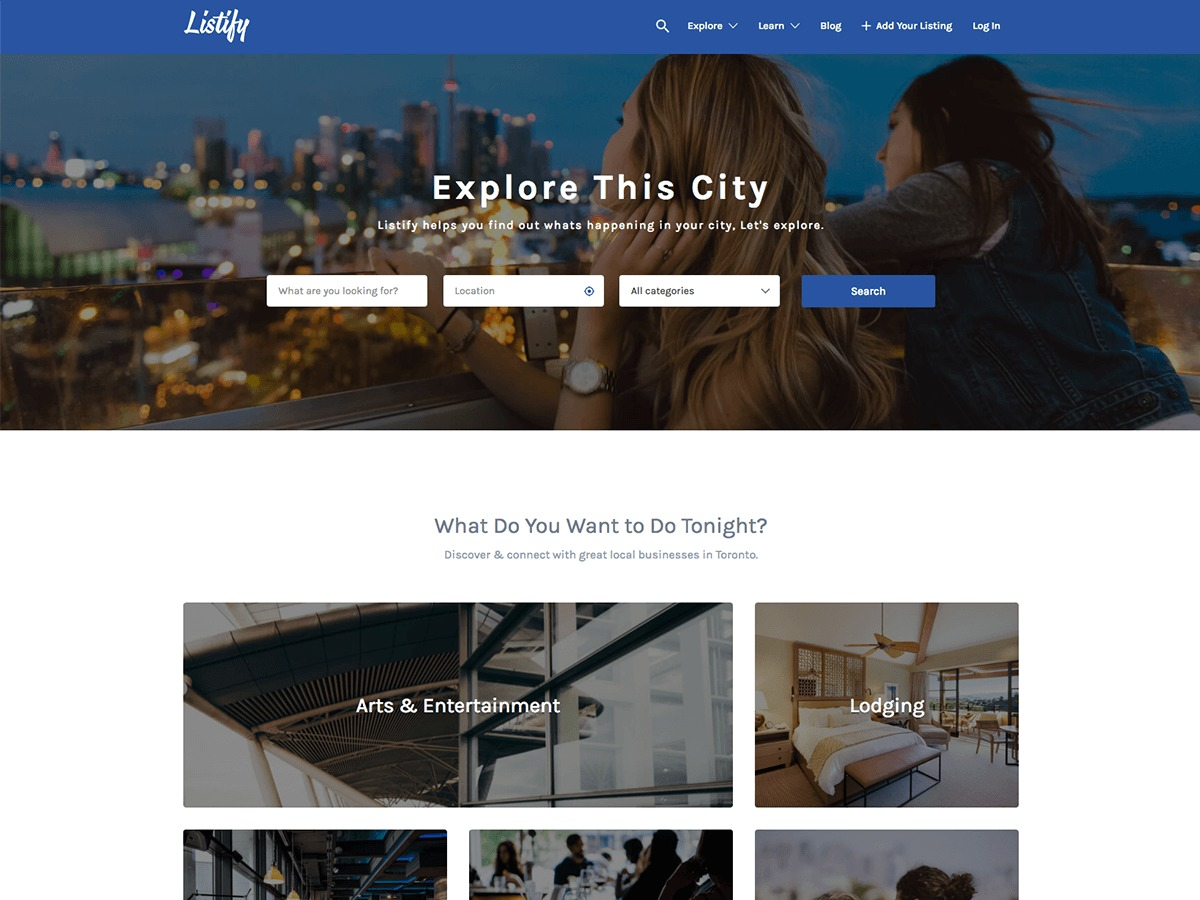 WP template Listify