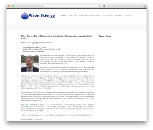 WP template Performs - waterscience.com.au