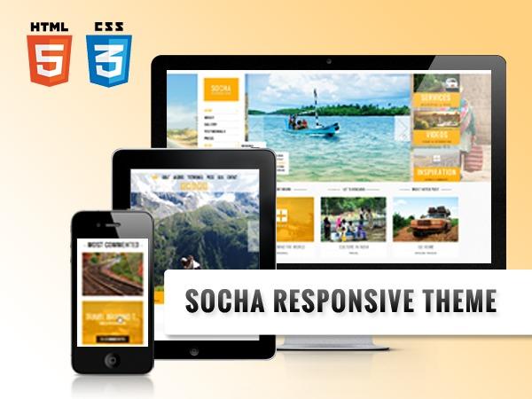 WP template Socha Responsive Theme