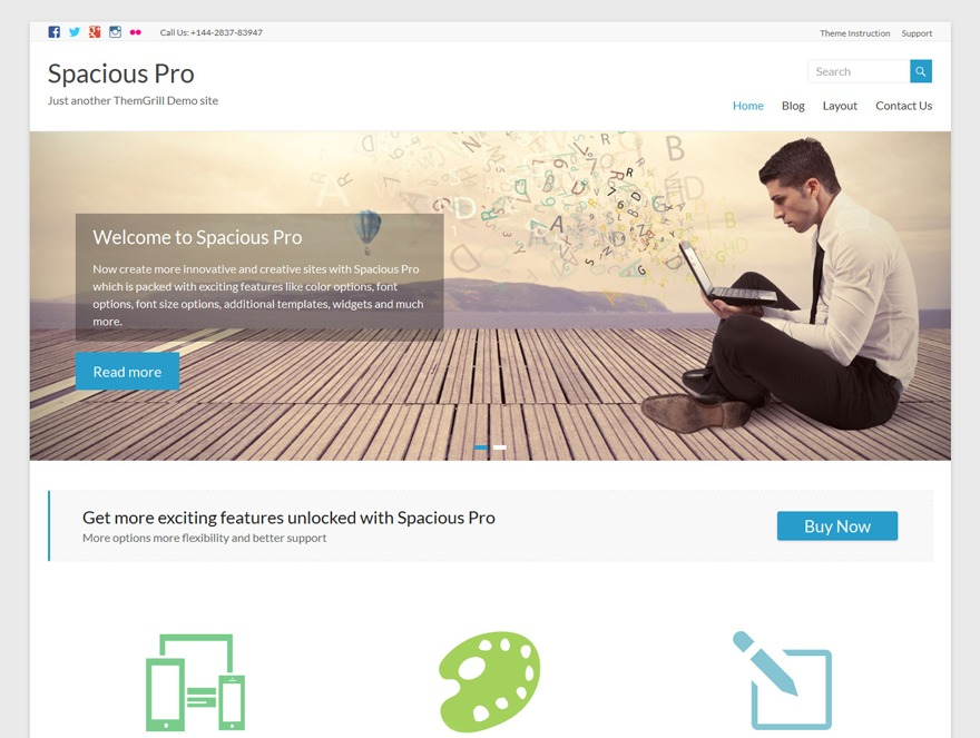 WP template Spacious Pro