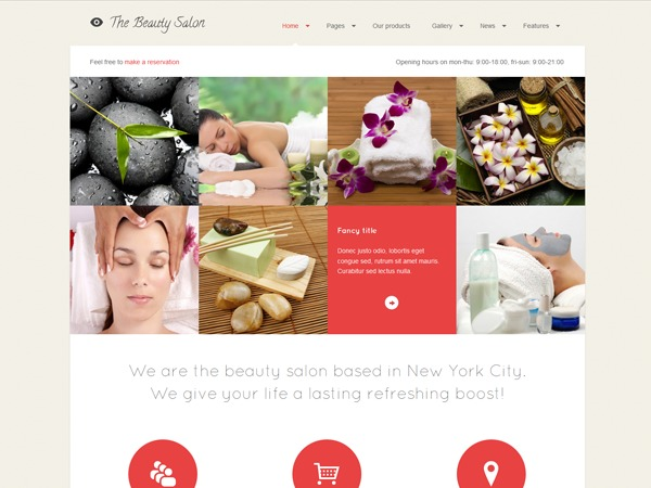 WP template The Beauty Salon