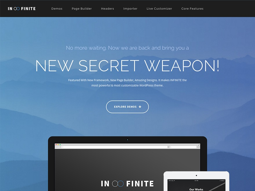 WP theme Infinite