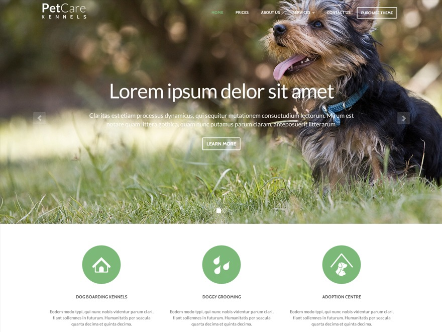WP theme PetCare