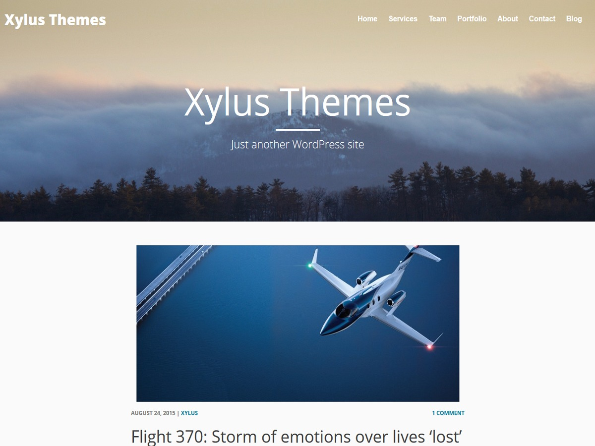 Xylus WordPress blog template