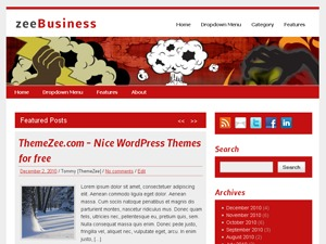 zeeBusiness WordPress blog template