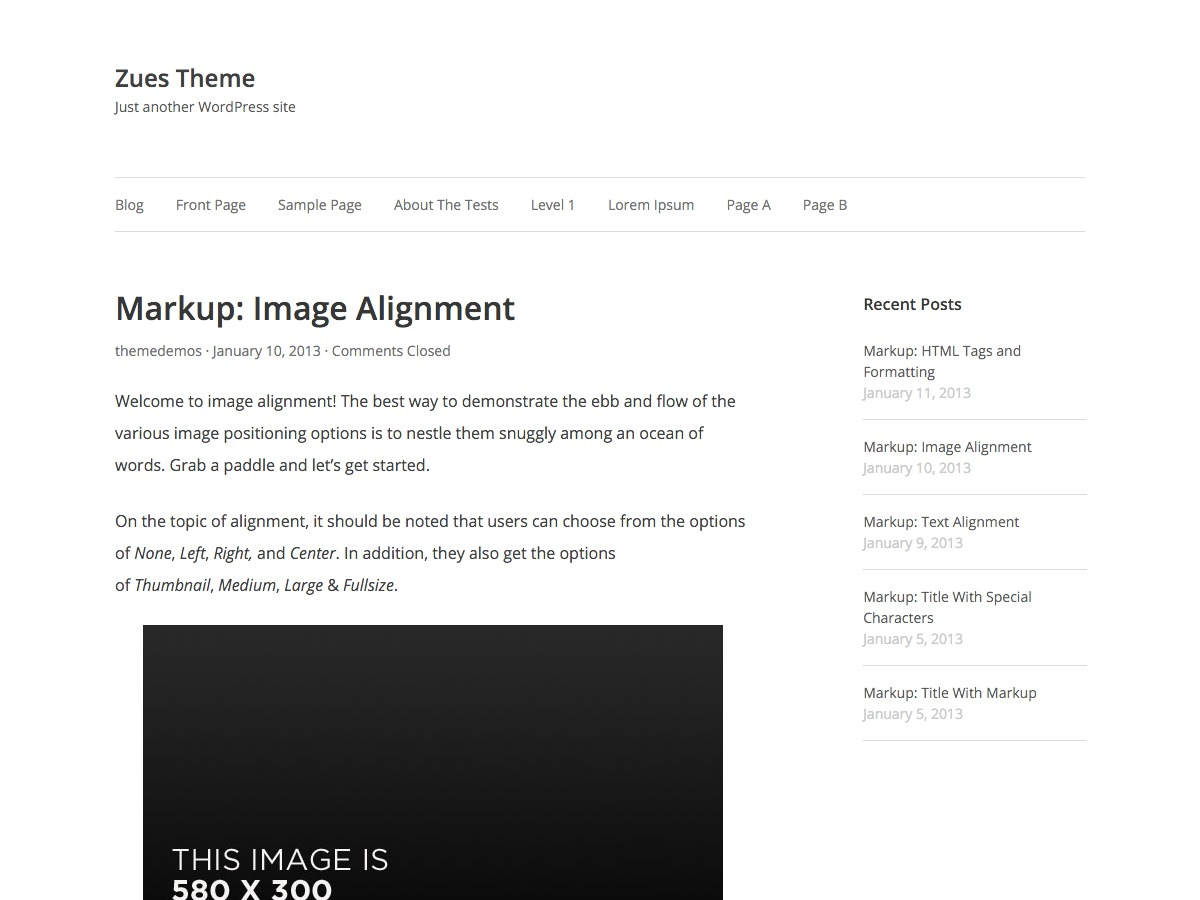 Zeus template WordPress free