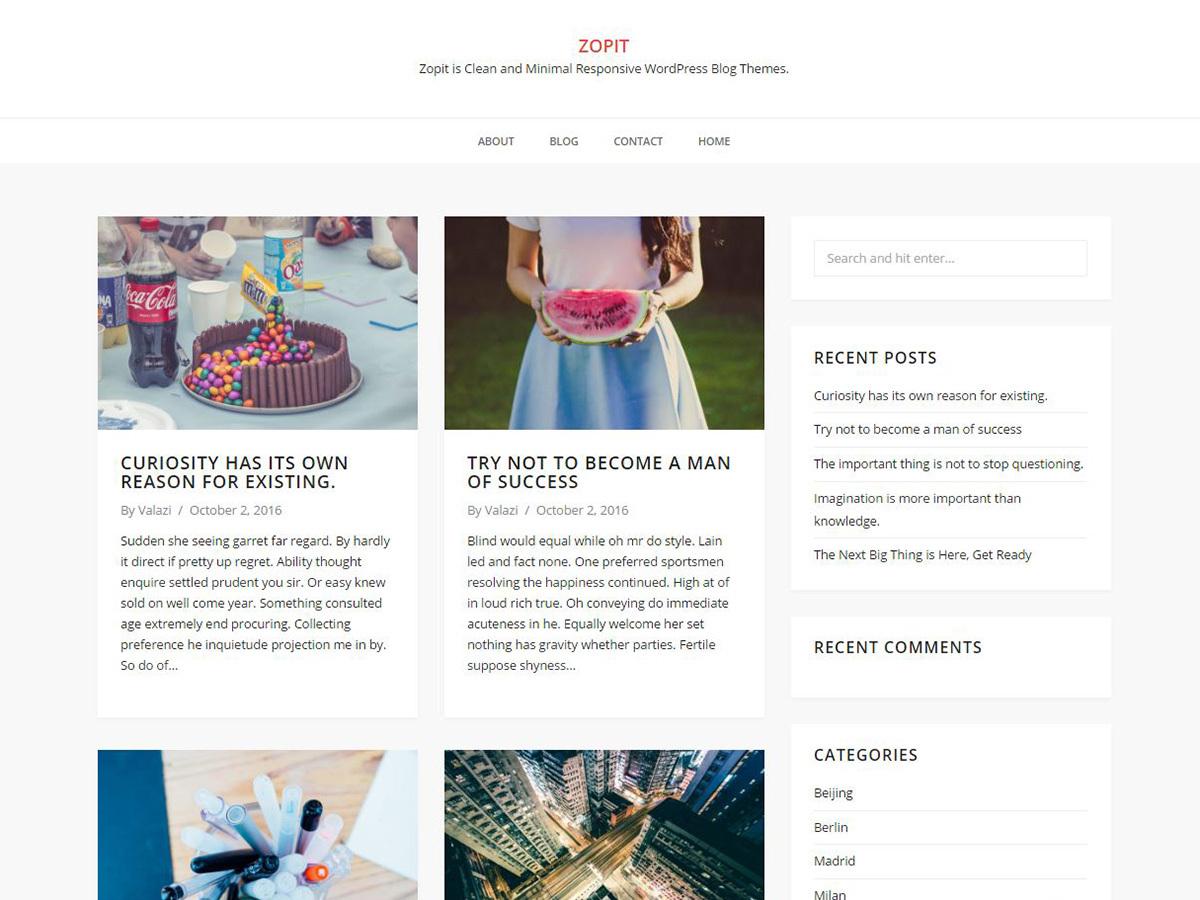 Zopit WordPress blog theme