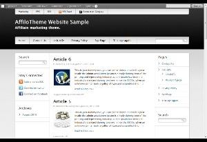 AffiloTheme - SuperMassive WordPress website template