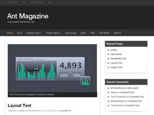 Ant Magazine WordPress news template