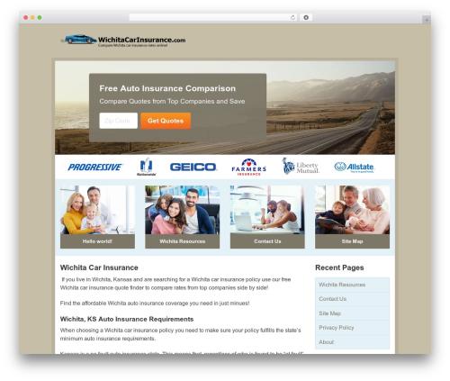 Aperture premium WordPress theme - wichitacarinsurance.com
