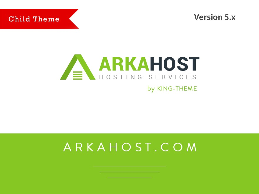 ArkaHost Child company WordPress theme