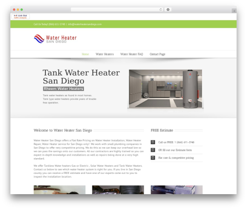 Avada top WordPress theme - waterheatersandiego.net