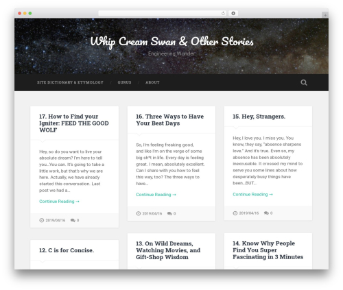 Baskerville WordPress theme - whippedcreamswan.com